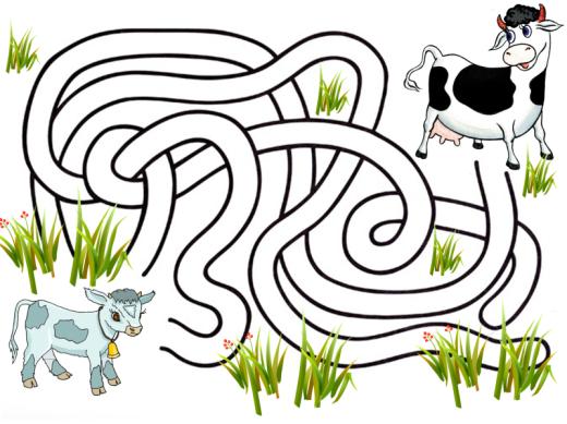 Лабиринт для детей картинки 5-6 лет цветной