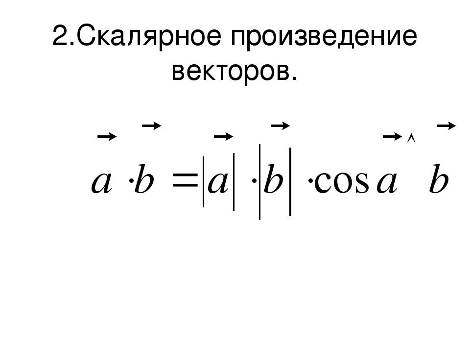 2.Скалярное произведение векторов.