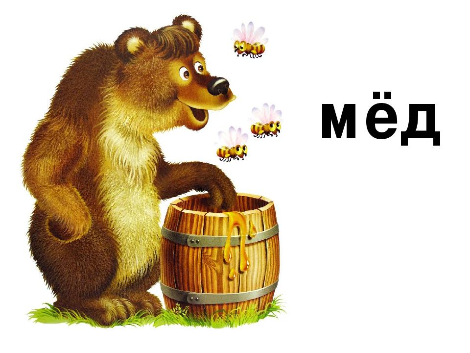 Мед для медведя картинка