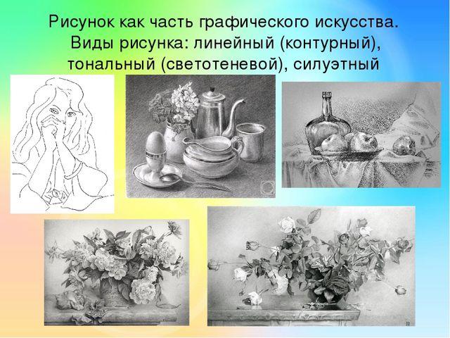 Виды рисунка и техника рисунка