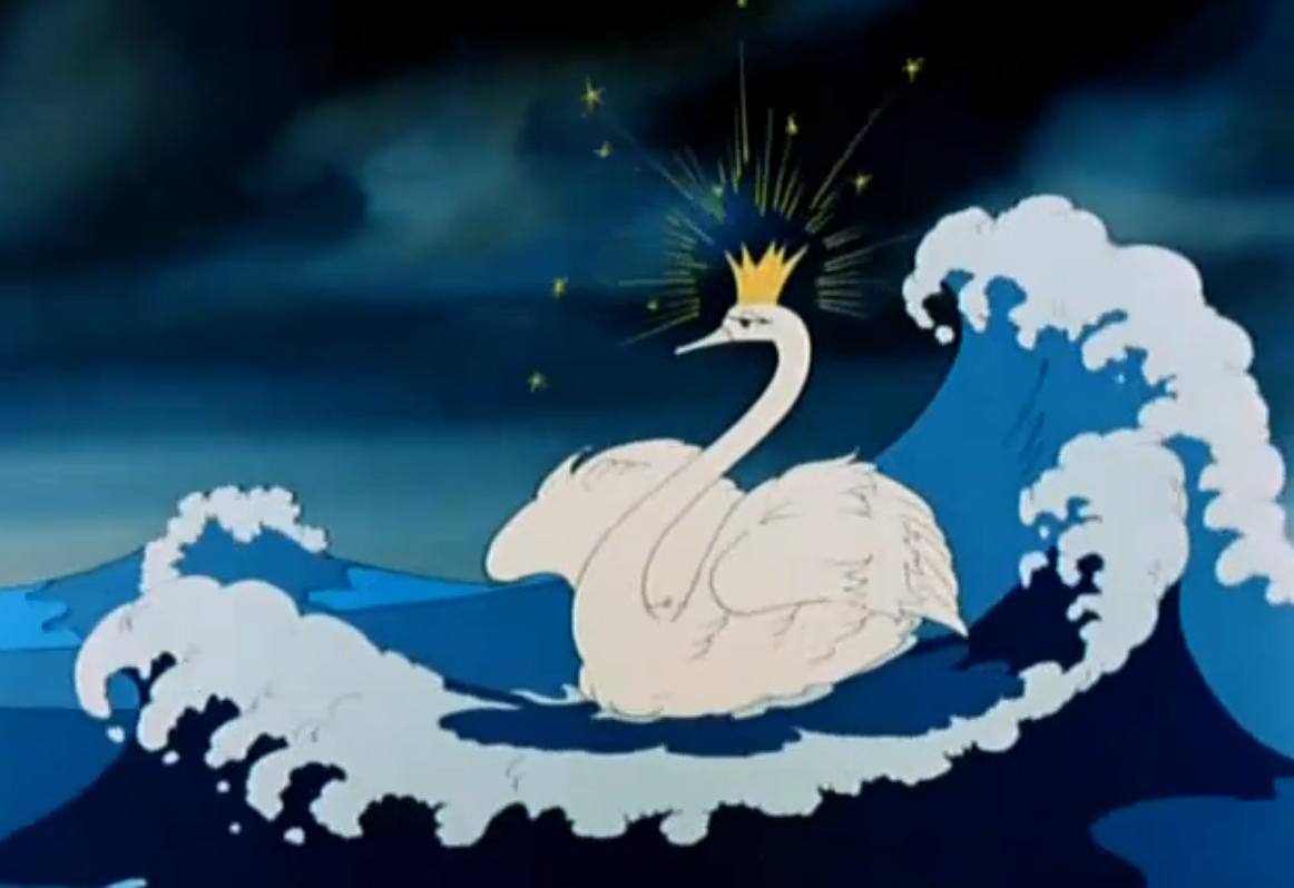 Из сказки о царе салтане царевна лебедь раскраски