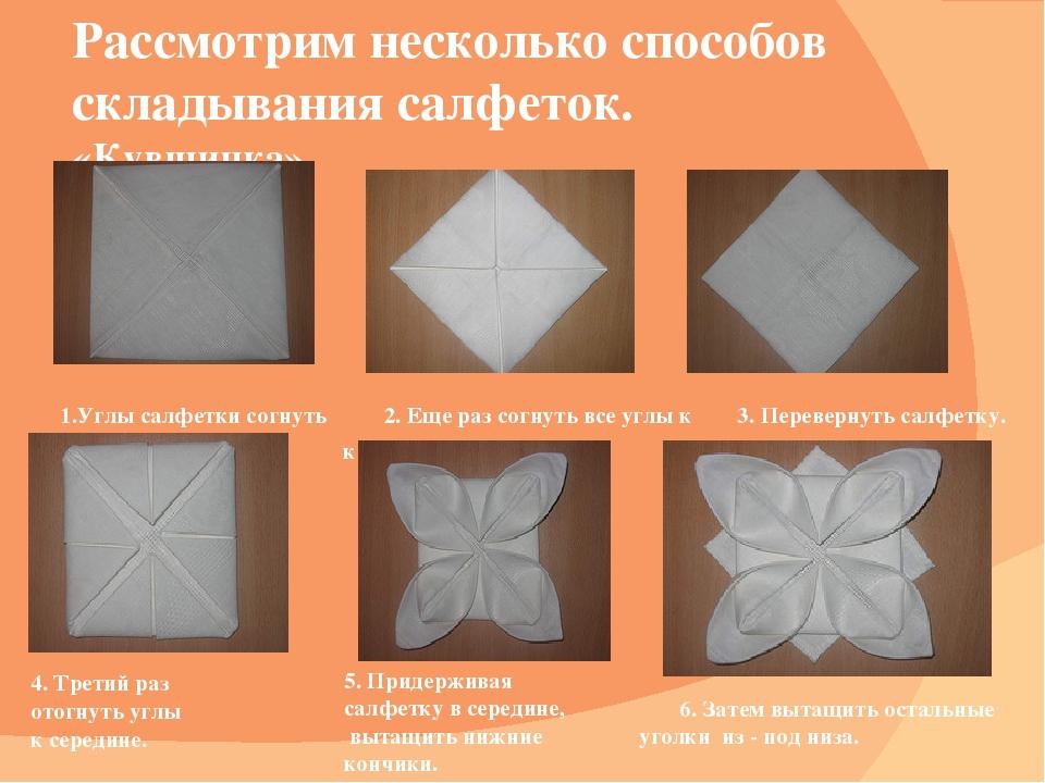Как сделать из салфеток для сервировки стола