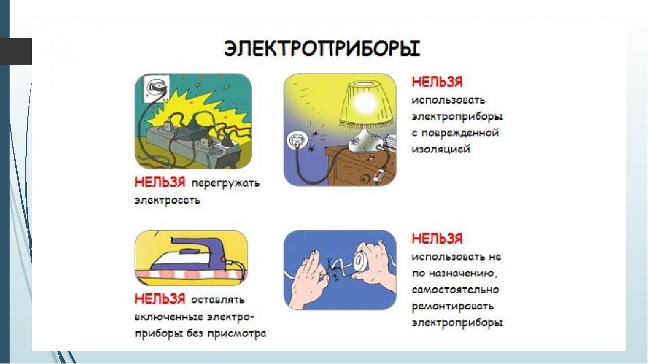 правила пользования электроприборами в картинках хочу