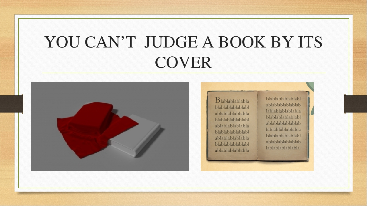 you can t judge a book by its cover essay