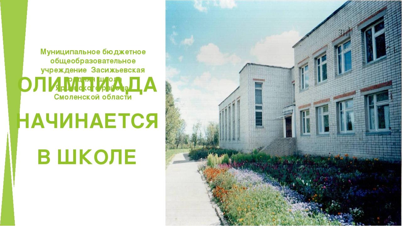 Муниципальное бюджетное общеобразовательное учреждение Засижьевская средняя...