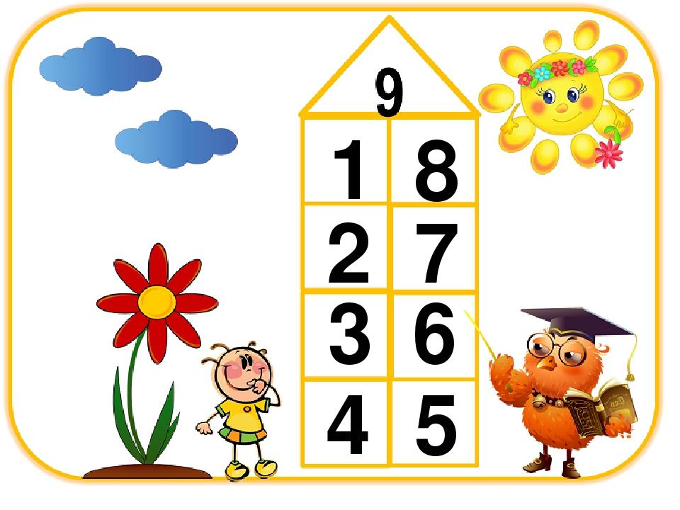 домик числа 9 состава картинка