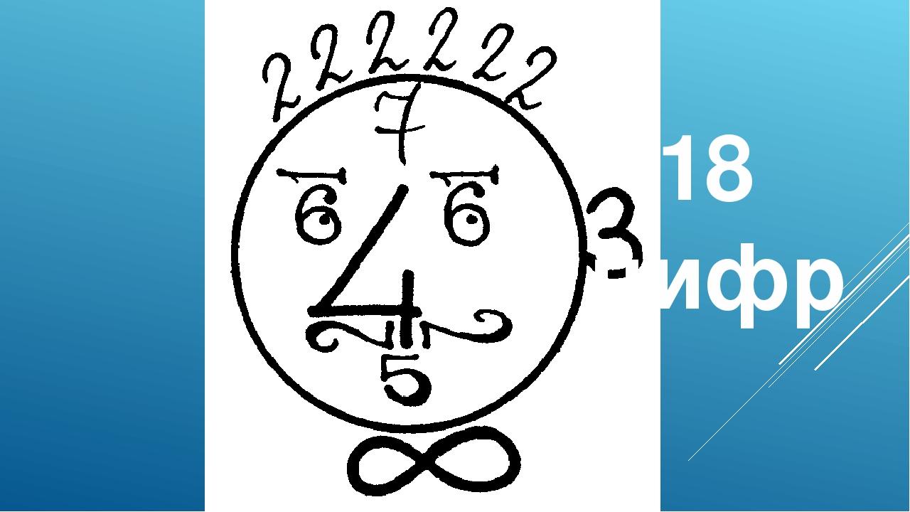 Рисунки из цифр по математике