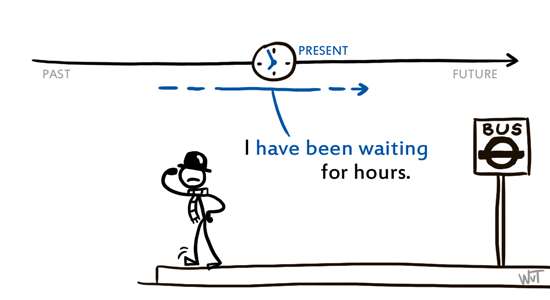 present perfect continuous timeline assignment The present continuous (also called present progressive) is a verb tense which is used to show that an ongoing action is happening now, either at the moment of speech or now in a larger sense the present continuous can also be used to show that an action is going to take place in the near future.