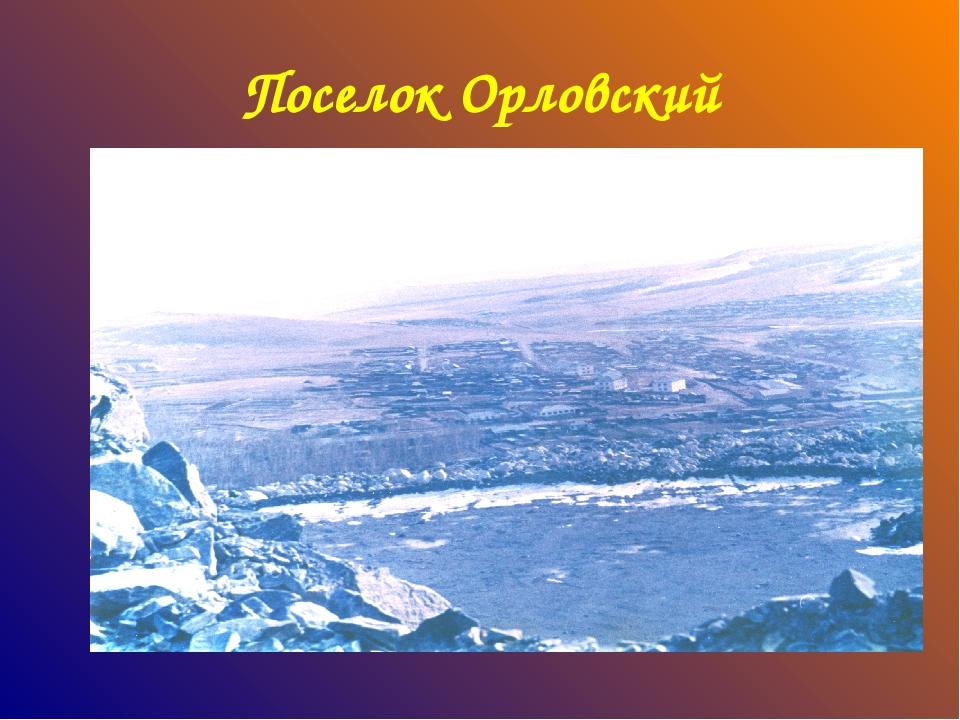 Поселок Орловский