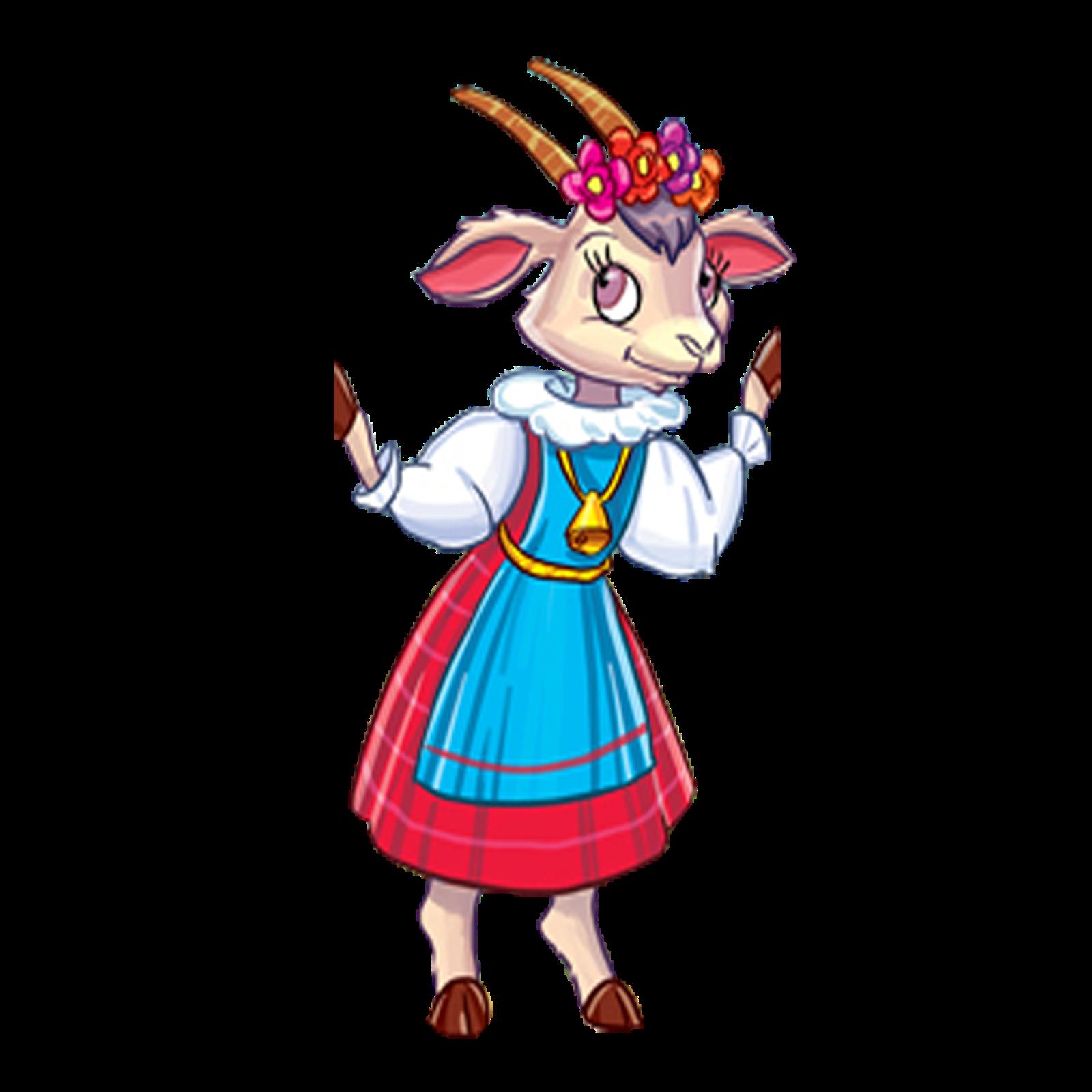 Картинка коза с козленком из сказки
