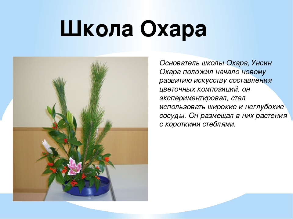 Школа Охара Основатель школы Охара, Унсин Охара положил начало новому развити...