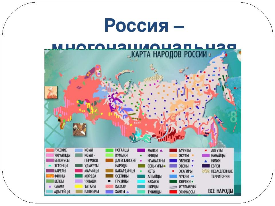 Карта народов россии для дошкольников