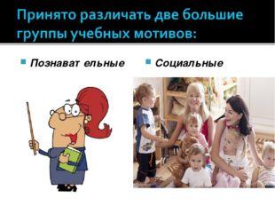 Познавательные Социальные