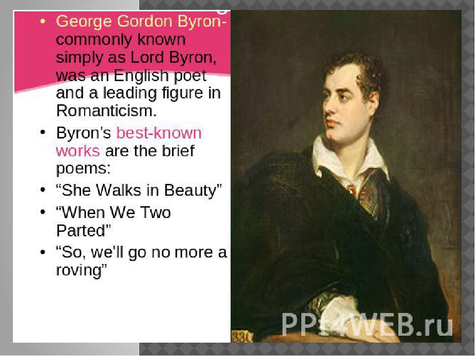 an interpretation of she walks in beauty a poem by george gordon and lord byron Thesis & topic sentences • thesis: lord byron heavily stresses balance between nature and beauty and opposites in heavy literature devices that conveys what makes a woman mla works cited nickol, ben she walks in beauty by byron: analysis, theme & interpretationeducation portal.
