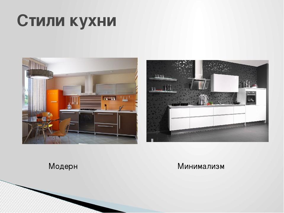 Стили кухни Модерн Минимализм