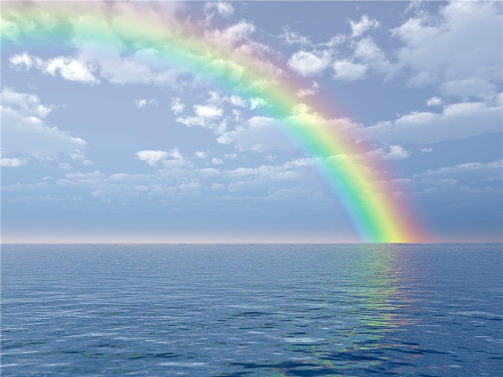 фотография обои море радуга что