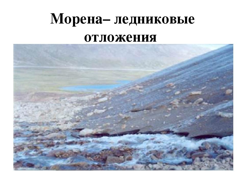 Морена– ледниковые отложения