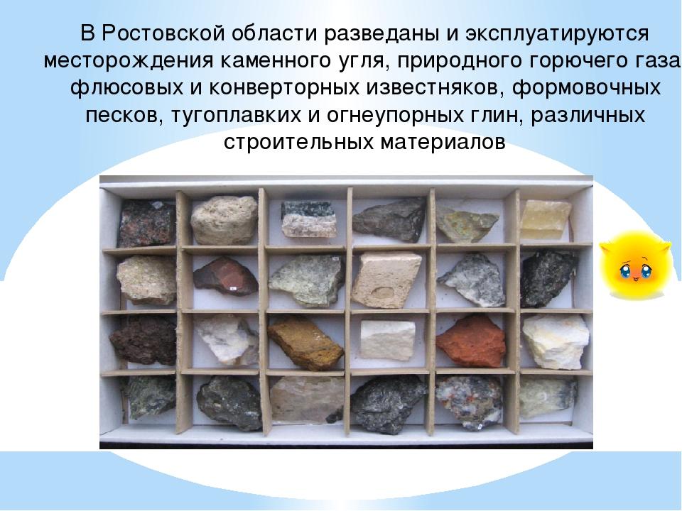 В Ростовской области разведаны и эксплуатируются месторождения каменного угля...