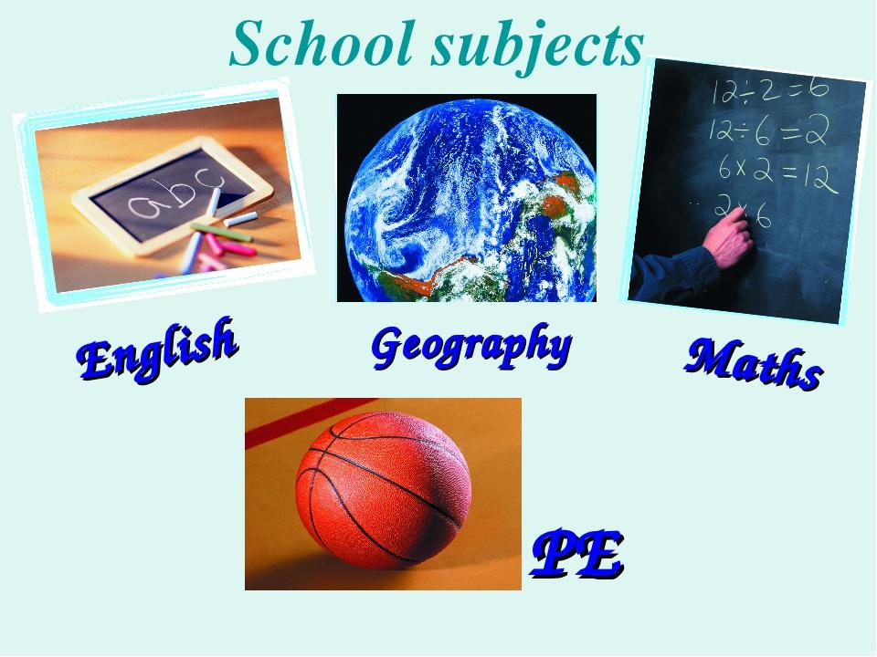 Картинки школьные предметы на английском языке