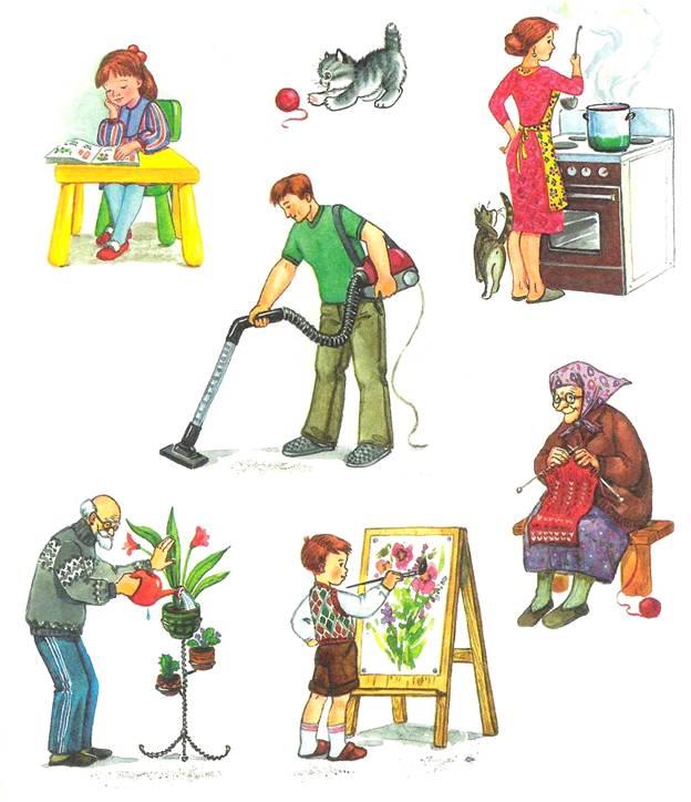 трудовая деятельность в картинках для аппликации пожелания