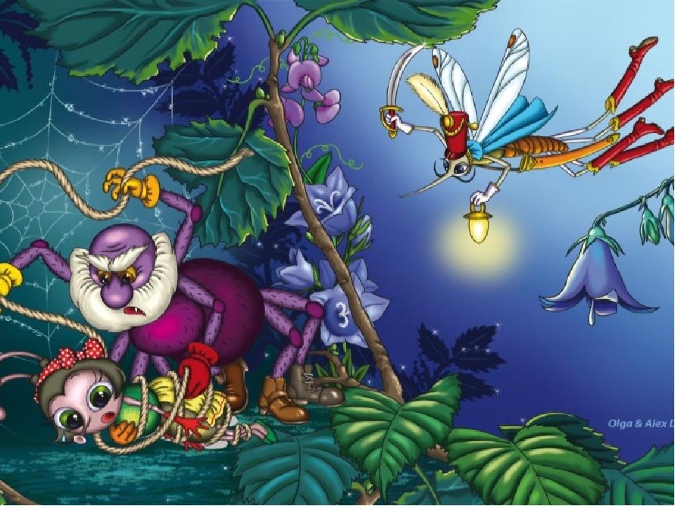 Картинки к сказке муха-цокотуха