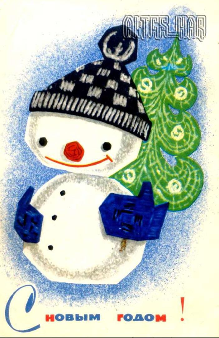 Рисование новогодняя открытка средняя группа