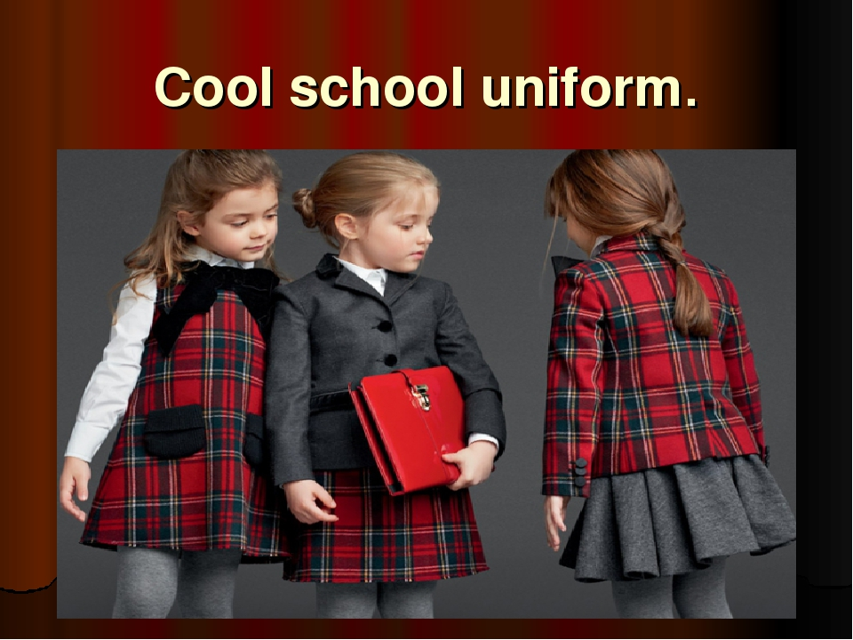 should kids wear school uniforms essay I believe kids should wear school uniforms because people gain a sense of comradery when they look the same the school uniform can break down racial barriers between people here are some arguments from both sides yes children should wear uniforms to school.