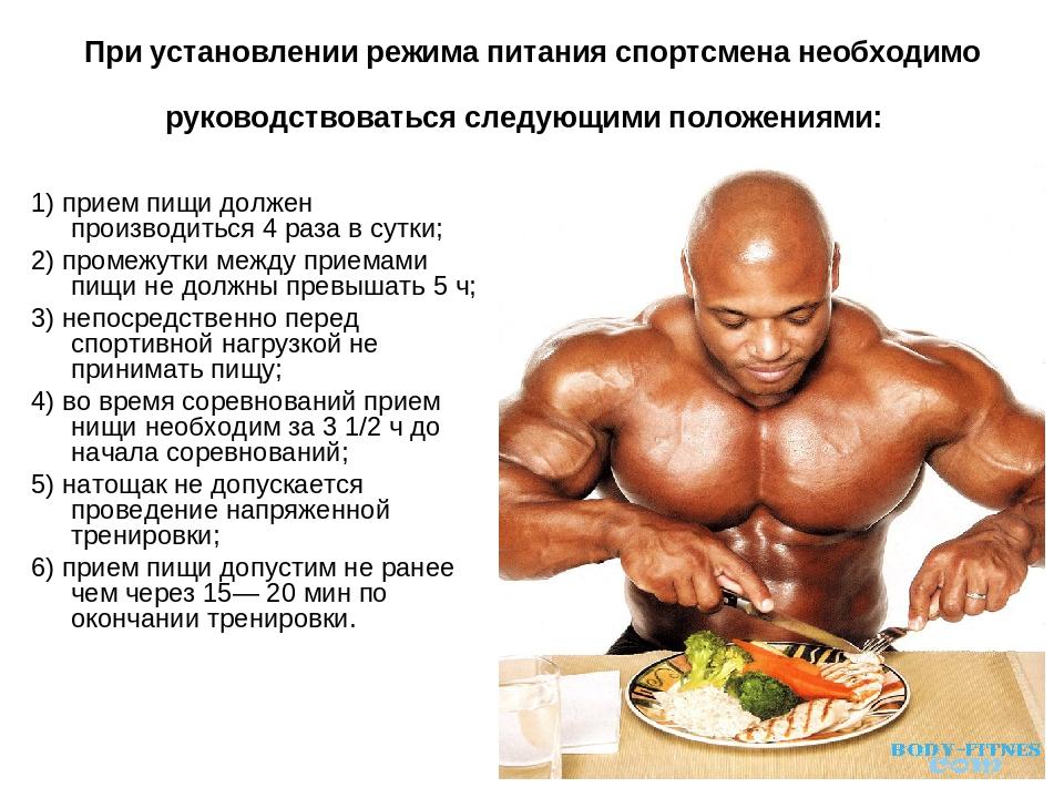 диета для спортсменов