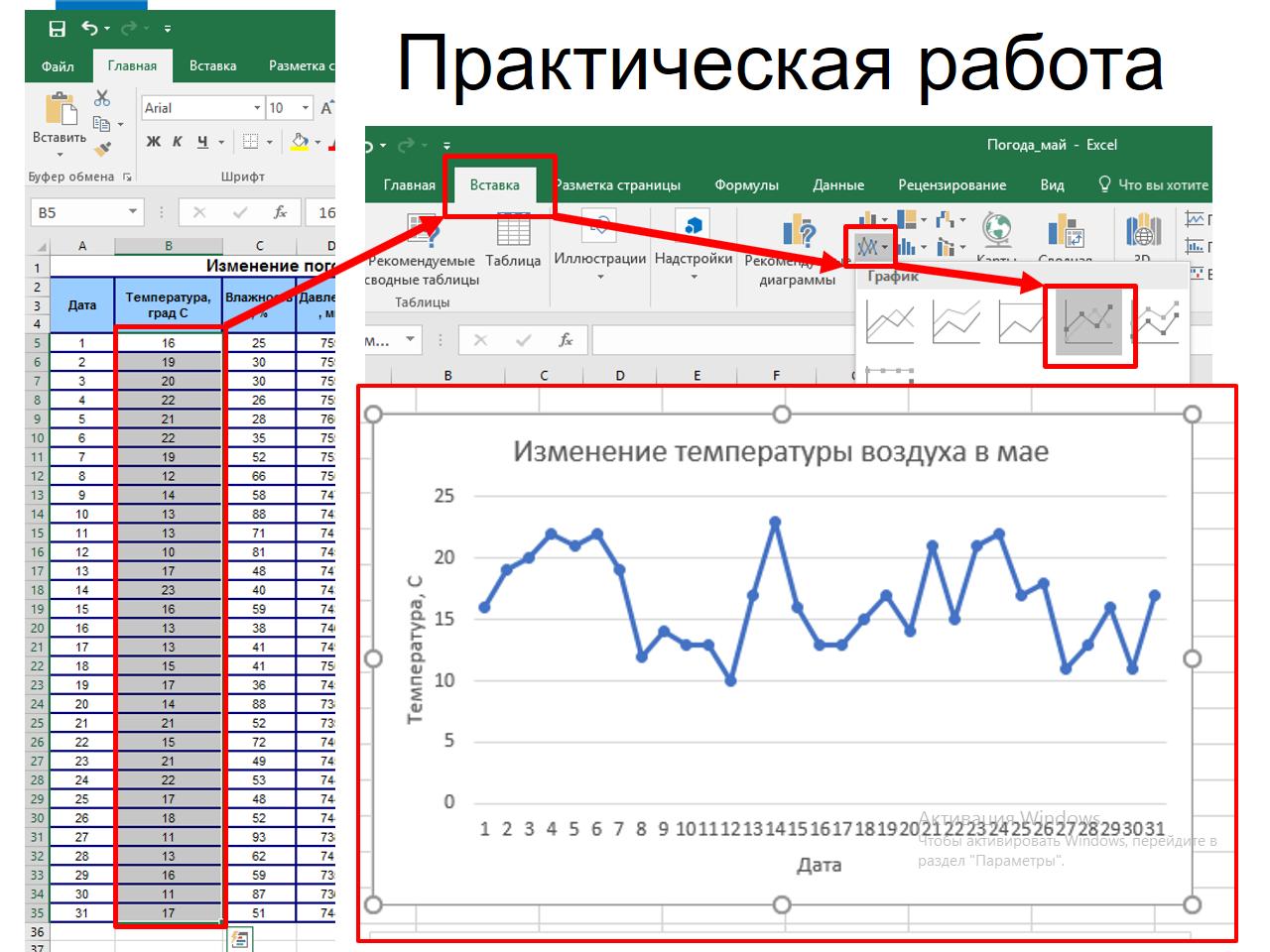 Информатика работа 13 создаем информационные модели диаграммы и графики работа илона кременчуг