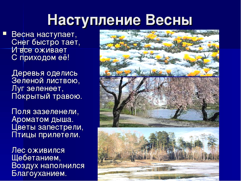 стихотворения о ранней весне и картинки