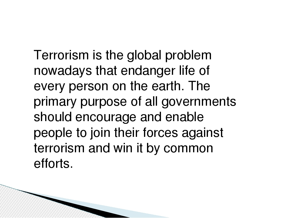 globalization terrorism and war essay