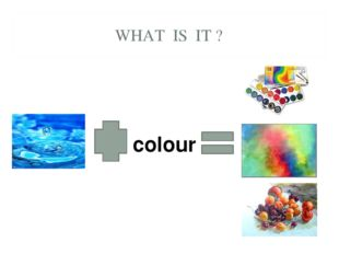 WHAT IS IT ? colour