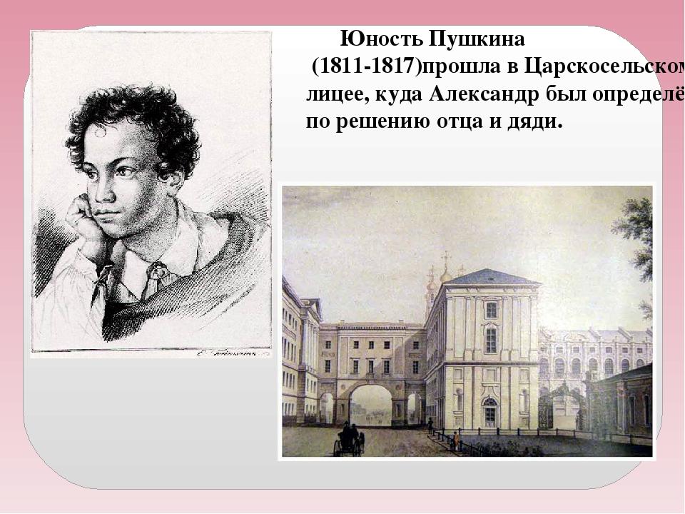 Детство пушкина в лицее картинки