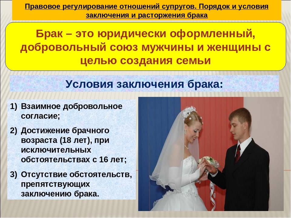 2 правовое регулирование расторжения брака и его условия последовал ним