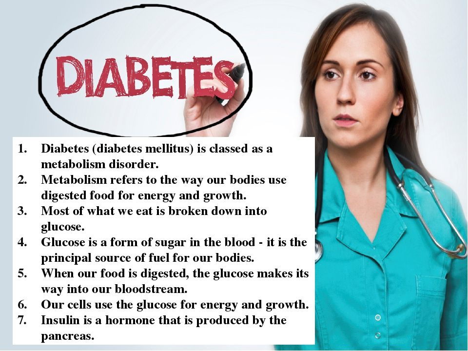 a description of diabetes mellitus disorder of metabolism Diabetes mellitus is a group of metabolic diseases characterized by hyperglycemia resulting from defects in insulin secretion, insulin action, or both the chronic hyperglycemia of diabetes is associated with long-term damage, dysfunction, and failure of various organs, especially the eyes, kidneys.