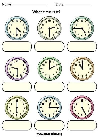 Часы время на британском языке упражнения