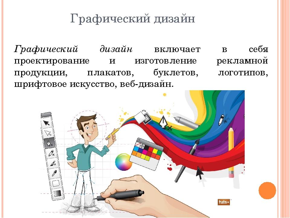 Графический дизайн Графический дизайн включает в себя проектирование и изгото...