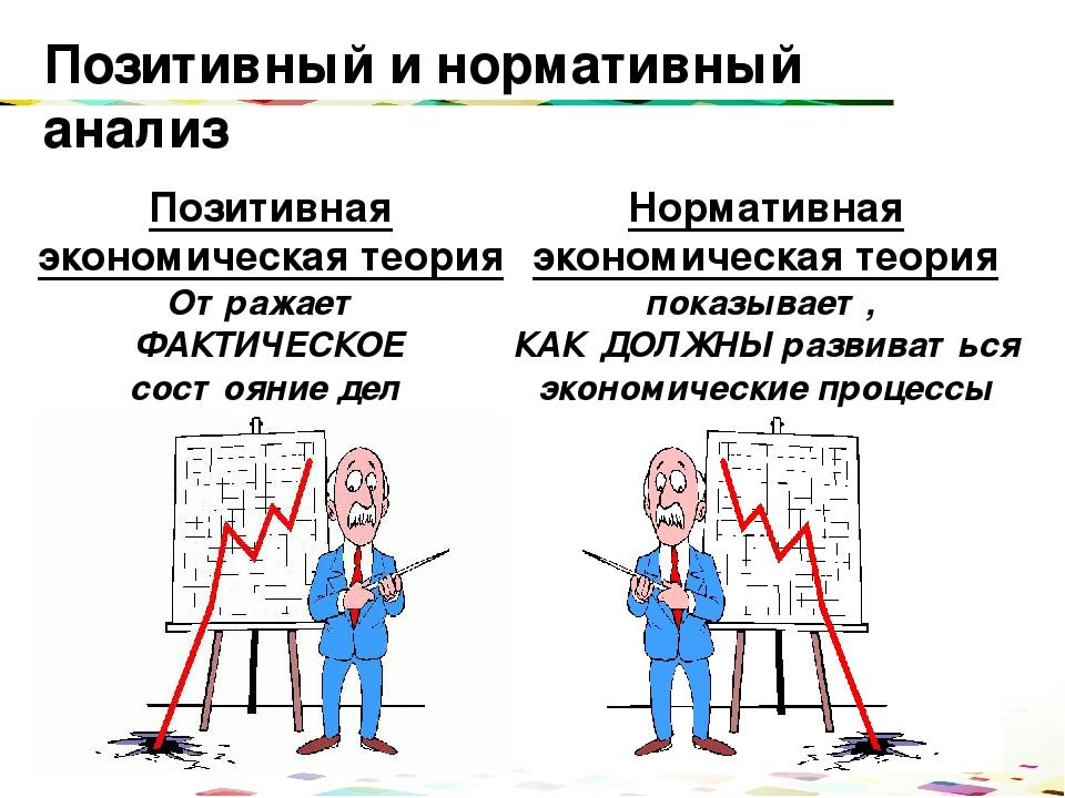 окончания позитивное и нормативное в экономике Юлины