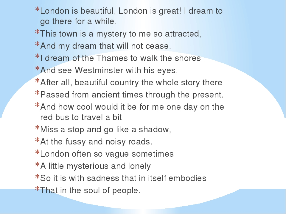 London is beautiful, London is great! I dream to go there for a while. This t...