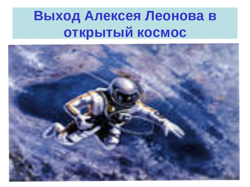 Выход Алексея Леонова в открытый космос