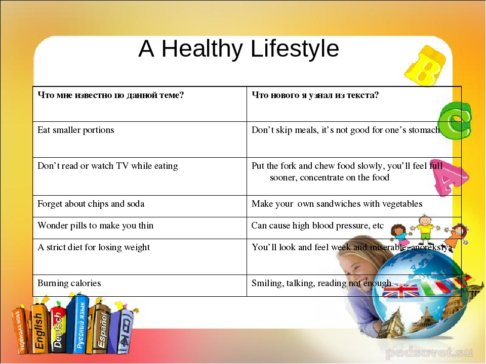 A Healthy Lifestyle