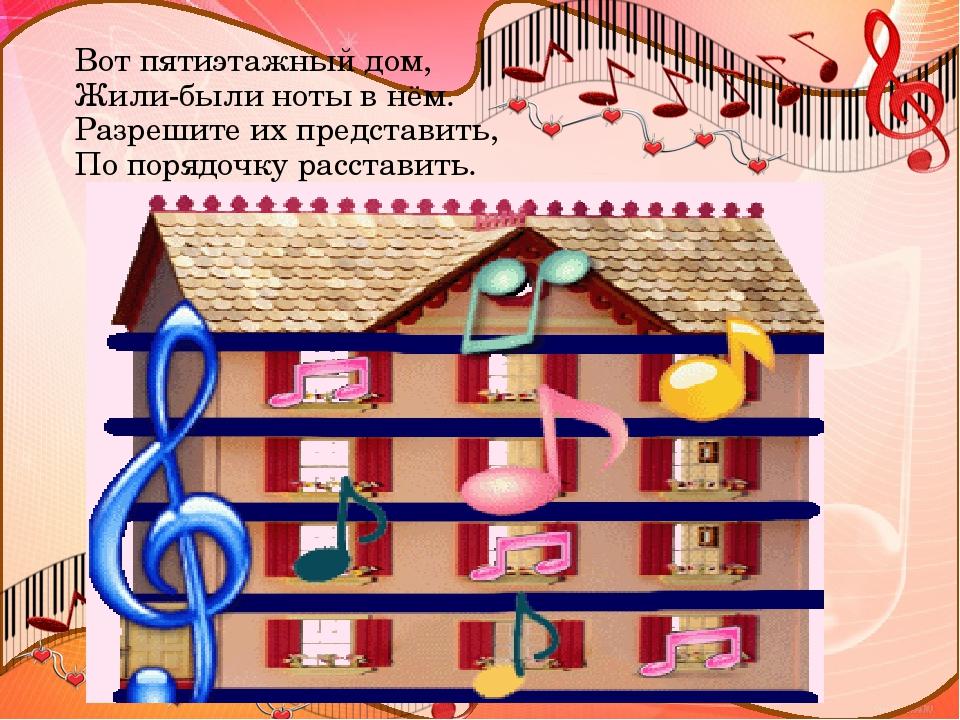 Картинка домик для нот