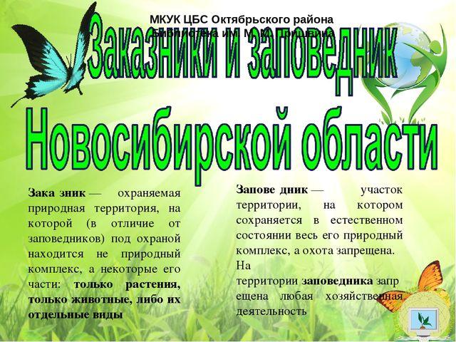 Заповедники новосибирской области доклад 7885