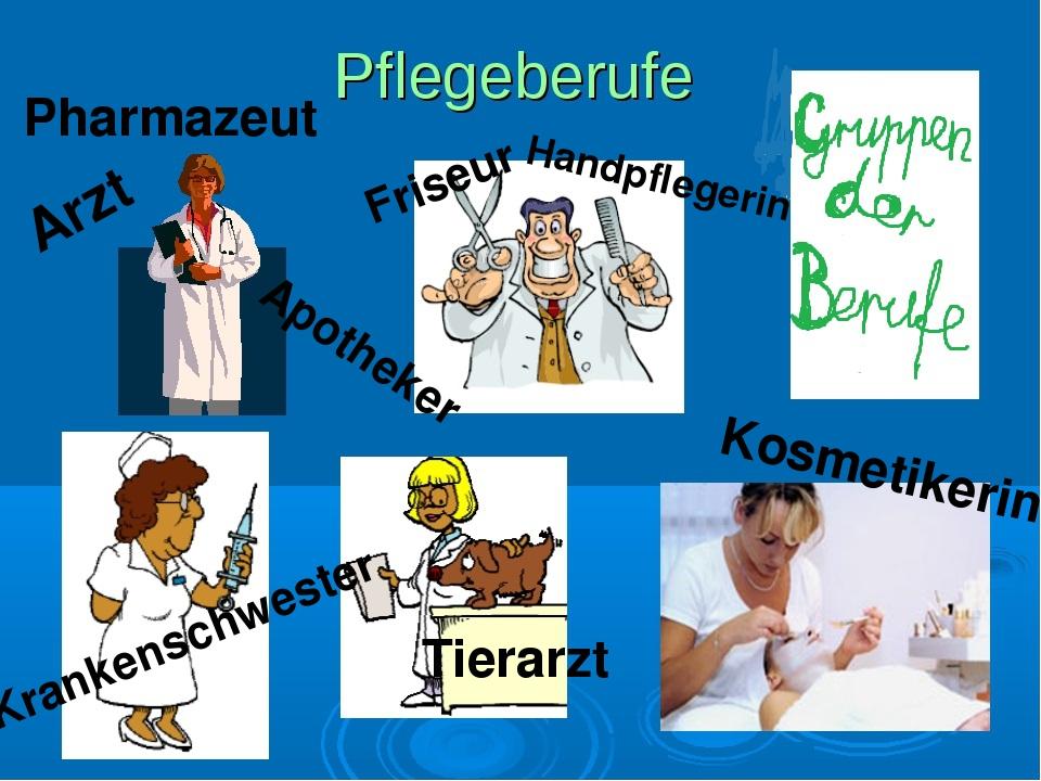 Arzt Krankenschwester Pharmazeut Friseur Handpflegerin Kosmetikerin Apotheker...