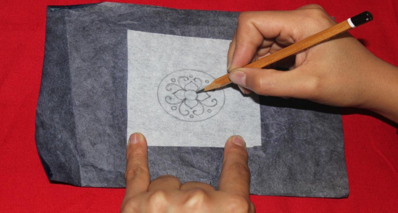 Открытка, свести картинку на бумагу