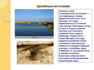 Целебные источники Соленое озеро иминеральные источники— этоприродные лека