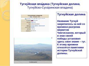 Тугну́йская впа́дина(Тугнуйская долина, Тугну́йско-Суха́ринская впадина) Туг