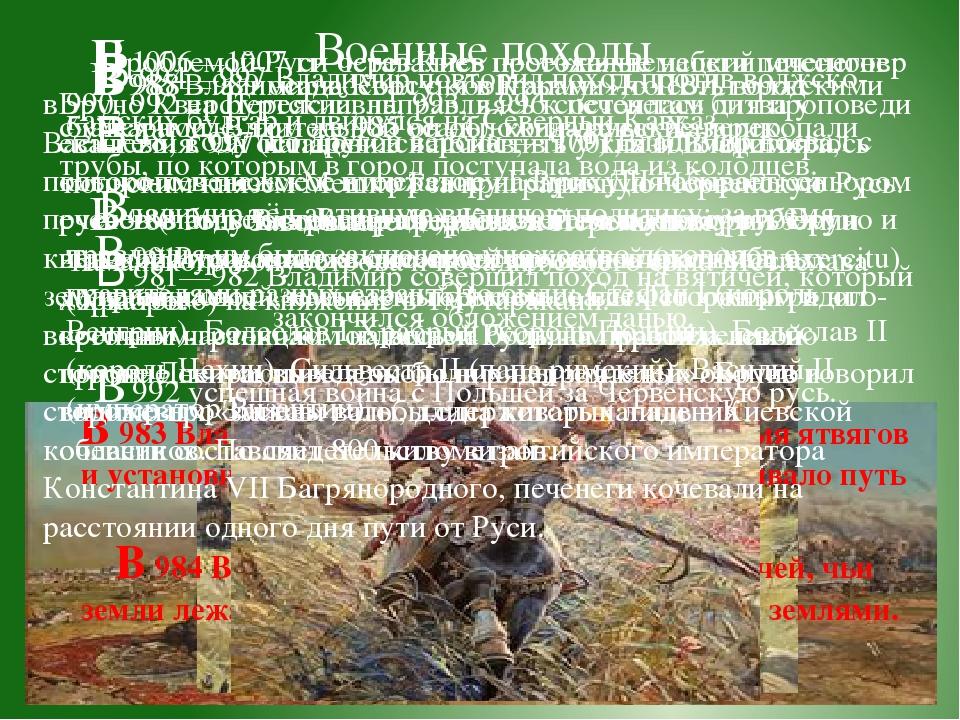 В 983 Владимир покорил балто-литовское племя ятвягов и установил контроль на...