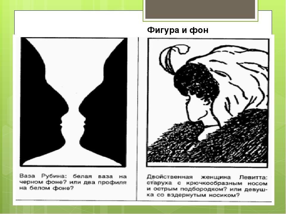 Фигура и фон в рисунке