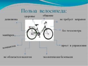 Польза велосипеда: дешевизна здоровье общение не требует заправки без техосмо